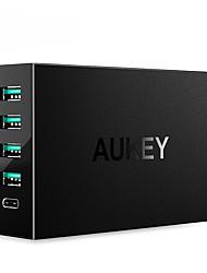 Chargeur USB 5 Ports Station de chargeur de bureau Avec Quick Charge 3.0 Avec câbles de chargeur Prise US Adaptateur de charge
