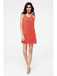 Women's Plus Size Simple Loose Dress,Solid Strap Above Knee Sleeveless Cotton Summer Mid Rise Inelastic Medium