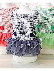 Chien Robe Vêtements pour Chien Décontracté / Quotidien Princesse Rouge Vert Bleu