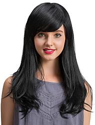 Pelucas largas encantadoras del pelo humano del negro de la alta calidad para las mujeres