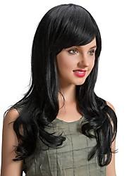 Ethereal belle branche oblique noir perruque cheveux long