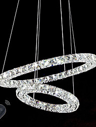 LED Crystal Chandeliers Lights Indoor Pendant Light Ceiling Lamp Lighting Fixtures Dimmable  with Remote Control
