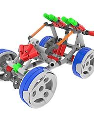 Kit de Bricolage Modèle d'affichage Blocs de Construction Jouet Educatif Pour cadeau Blocs de Construction Moto ChariotPlastique Acétate