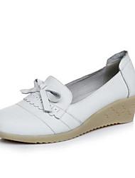 Women's Flats Comfort PU Summer Casual White Under 1in