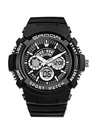 Per uomo Smart watch Digitale Gomma Banda Nero