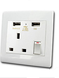 Electrical Outlets PP With USB Charger Outlet 9*9*4