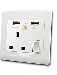 Электрические розетки PP С выходом USB-зарядного устройства 9*9*4