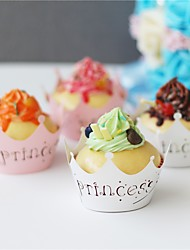 50pcs/lot 2017 New Princess Crown Design Style Paper Vine Lace Cupcake Wrappers Baby shower Party Birthday Decoration