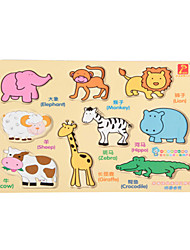 Jigsaw Puzzles Wooden Puzzles Building Blocks DIY Toys Elephant Bull Crocodile Other Number