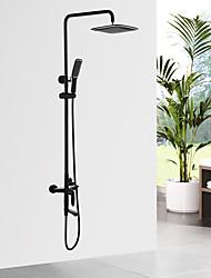 Traditional/Vintage Shower System Ceramic Valve Oil-rubbed Bronze , Shower Faucet
