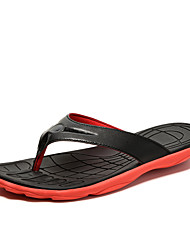 Men's Slippers & Flip-Flops Comfort Summer PU Outdoor Flat Heel Yellow Red Green Blue Flat