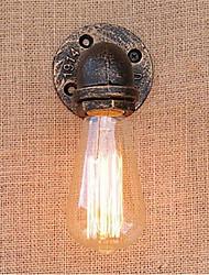 1pcs rust water pipe rétro appliques murales vintage e27 led appliques murales sans lampe pour 110 / 220v