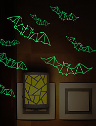 Luminous Wall Stickers Wall Decas Style Plastic Bat Wall Stickers