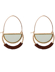 Fashion Women Semicircle Shape Acrylic Hoop Earrings