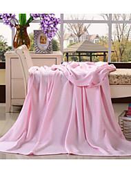 Шерсть Сплошной цвет Бамбук/хлопок одеяла