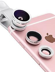 Lentille de téléphone portable lieqi lq-011 objectif 0.65x grand angle 180 yeux de poisson 10x macro lentille externe