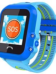 Montres Enfants Ecran tactile GPS Contrôle de l'APP SOS Moniteur d'Activité Chronomètre Fonction réveille 2G Carte SIM