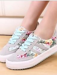 Damen Schuhe Tüll Sommer Komfort Sneakers Für Normal Schwarz Rot Blau