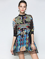 Maxlindy Women's Going out Casual/Daily Party Vintage Street chic Sophisticated Shift Dress