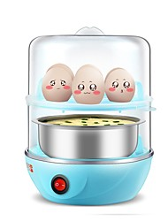 Kitchen Steamer Double Layer Stainless Steel Egg Boilers Mini Cooking Egg Machine Small Steamed Egg Custard Automatic Power Off