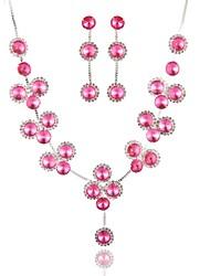 Femme Collier Y Forme Géométrique Imitation Diamant Alliage Basique Mode Bijoux Pour Mariage Soirée Anniversaire Fiançailles