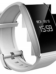 Men's Digital Watch Mechanical manual-winding Digital Rubber Band Black White