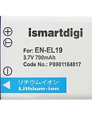 Ismartdigi EL19 3.7V 700mAh Camera Battery for Nikon EN-EL19 S2900 S7000 S3700 S3600 S6900