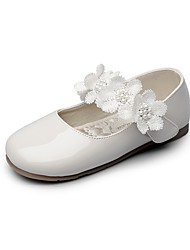 Girls' Flats Comfort Flower Girl Shoes Light Soles Leatherette Spring Fall Wedding Casual Party & Evening Dress Applique Magic Tape Flower
