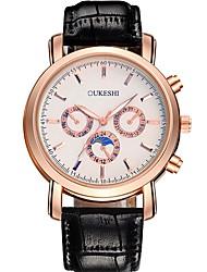 Men's Fashion Watch Wrist watch Quartz Leather Band Casual