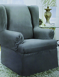 Wing Chair Cover , Polyester Fabric Type Slipcovers