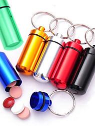 6pc новинка мини капсула в форме бутылки держатель контейнера брелок кухня хранения