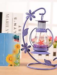 2PC Color Random Aladdin Lamp Metal Candlestick European Retro Restaurant Romantic Decoration Tableware Candle Lamp