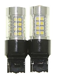 Il sencart 2pcs 7440 w21w w3x16d ha condotto le lampade della lampadina di inversione della coda dell'automobile (bianco / rosso / azzurro