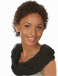 Mujer Pelucas sintéticas Sin Tapa Corto Rizado Castaño Medio Peluca afroamericana Para mujeres de color Peluca natural Las pelucas del