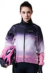 Велокуртки Жен. Велоспорт Женская куртка Верхняя часть С защитой от ветра Нейлон Геометрический принт Горные велосипеды Велосипеды для