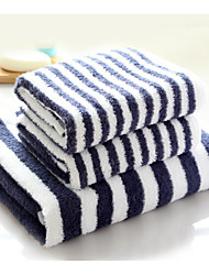 Bath Towel Set,Stripe High Quality 100% Cotton Towel