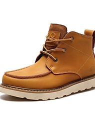 Men's Boots Fashion New Style Leather Casual Outdoor Brown Black Yellow