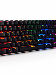 Mechanical keyboard / Gaming keyboard USB Black axis RGB backlit Ajiazz AK33