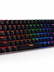 Механическая клавиатура Игровые клавиатуры USB Черная ось RGB подсветка Ajiazz AK33