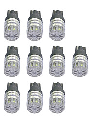 1W High Power T10 1LED Diamond Mirror Car Light White/Yellow/Green/Ice-blue light DC12V 10Pcs
