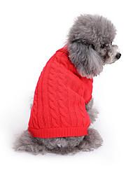 Cane Maglioni Abbigliamento per cani Casual Tinta unita