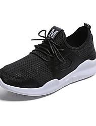 Femme Chaussures d'Athlétisme Chaussures formelles Tulle Automne Athlétique Décontracté Habillé Marche Lacet Talon Plat Noir Rouge2,5 à