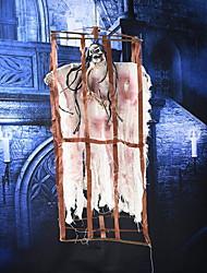 Halloween Electric Toy Ghost Pendant Arrangement Props Sensitive Horror Skeleton Luminous Sound