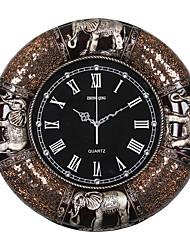 Традиционный Деревенский Повседневный Животные Настенные часы,Круглый Слон Часы Резина В помещении Часы