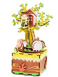 Music Box Carousel Wood