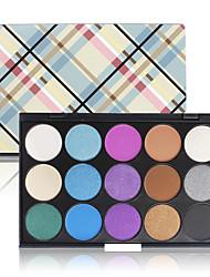 15 Paleta de Sombras Secos Mate Brilho Mineral Paleta da sombra PóMaquiagem para o Dia A Dia Maquiagem para Dias das Bruxas Maquiagem de