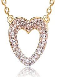 Mulheres Colares com Pendentes Zircônia Cubica Formato de Coração Liga Moda Personalizado bijuterias Jóias Para Casamento Festa
