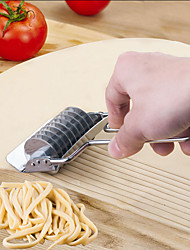 Noodle Lattice Roller Docker Dough Cutter Pasta Stainless Steel Spaghetti Maker Garlic Press