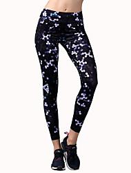 Pantalones de yoga Medias/Mallas Largas Prendas de abajo Eslático Cintura Media Eslático Ropa deportiva Mujer BARBOK Yoga Jogging Pilates
