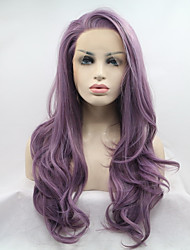 Sylvia Synthetic Lace front Wig Puple Heat Resistant Long Natual Wave Synthetic Wigs